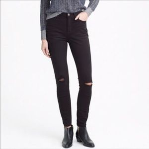 JCrew Lookout High Rise Skinny Distressed Jeans